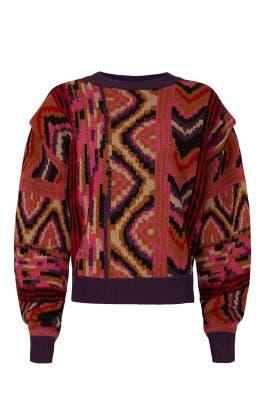 Striped Patchwork Sweater by FARM Rio