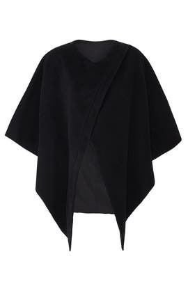 Black Short Sleeve Cape by Genny