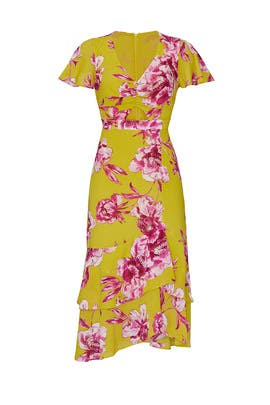 Lemon Floral Midi Dress by Great Jones