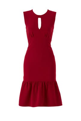 Burgundy Peyton Dress by Milly