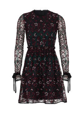 Vine Embroidered Dress by ML Monique Lhuillier
