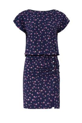 Ditzy Stems Blouson Dress by Nicole Miller