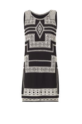 Black Embroidered Ashton Dress by Parker