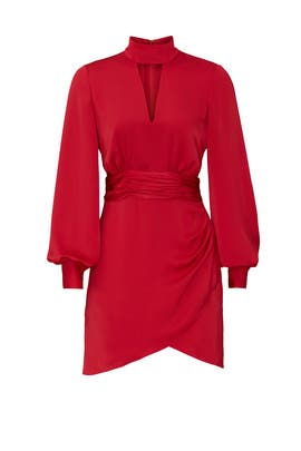 Red Angela Mini Dress by Ramy Brook