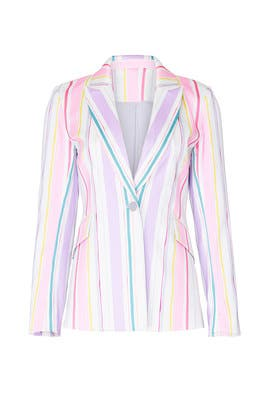 Pastel Striped Blazer by Badgley Mischka