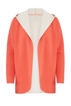 Orange Hugo Hooded Cardigan by DREYDEN