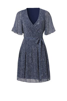 Blue Katina Dress by Diane von Furstenberg