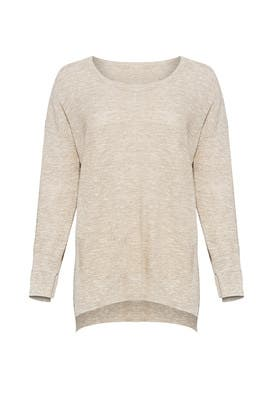 Beige Linen Sweater by HALSTON
