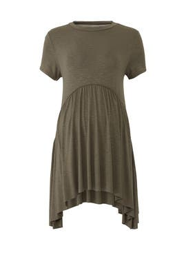 Olive Handkerchief Hem Maternity Top by Ingrid & Isabel