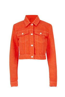 Orange Faye Denim Jacket by J BRAND