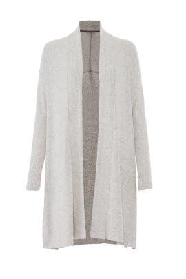 Heather Grey Knit Cardigan by Josie Natori