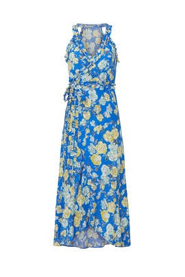 Blue Floral Sleeveless Dress by Jason Wu