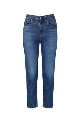 Blue 501 Crop Jeans by Levi's