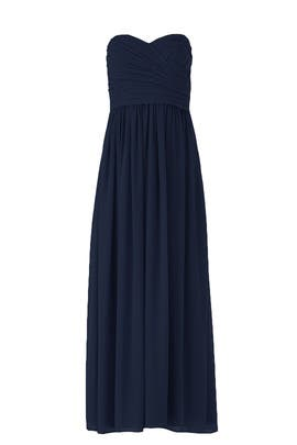 Navy Madeline Gown by Monique Lhuillier Bridesmaid