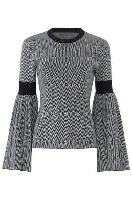 Pleated Sleeve Sweater by Slate & Willow