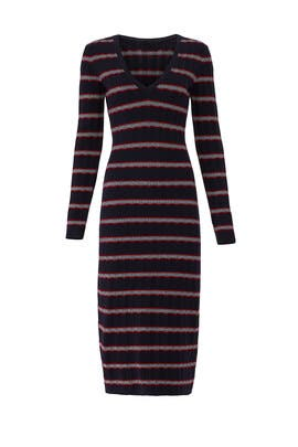 Gravitation Stripe Long Sleeve Dress by The Fifth Label