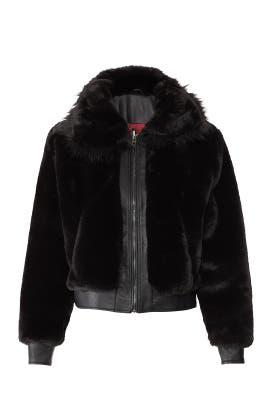 Black Noise Faux Fur Jacket by BlankNYC