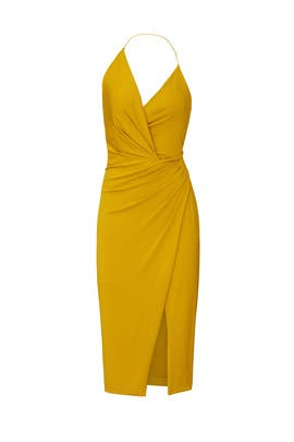 Antique Gold Halter Dress by Cushnie