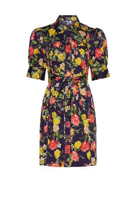 Floral Printed Puff Sleeve Dress by Marissa Webb Collective