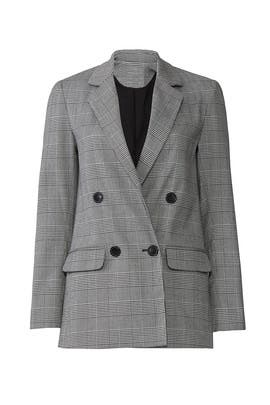 Grey Check Suiting Blazer by Nicholas