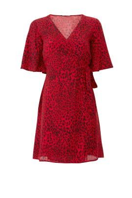 Girl On Fire Faux Wrap Dress by Sanctuary