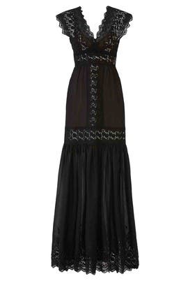 Embroidered Lace Maxi by Aijek
