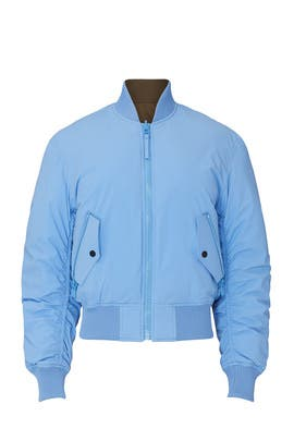 Blue Queen Reversible Bomber by Aztech Mountain