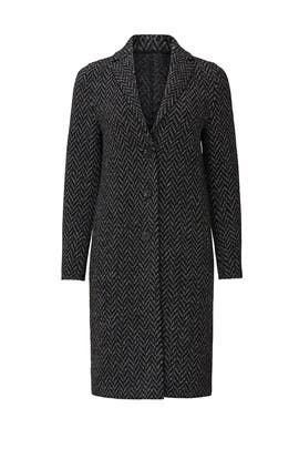 Herringbone Overcoat by Harris Wharf London