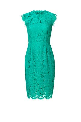 Emerald Green Suzette Dress by Rachel Zoe