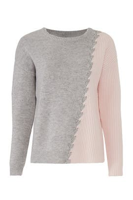 Grey And Pink Dante Sweater by Tabula Rasa