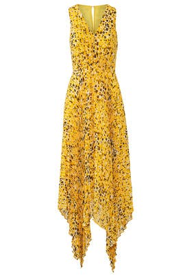 Pleated Animal Print Maxi by Derek Lam 10 Crosby