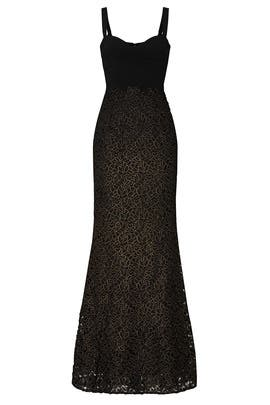 Black Lorena Gown by Dress The Population