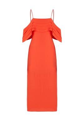 Red Azalea Midi Dress by ELLIATT