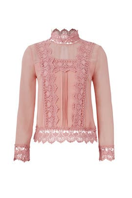 Rose Chiffon Ruffled Top by Endless Rose