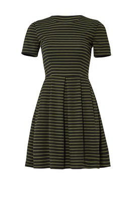 Green Striped Dress by Hutch