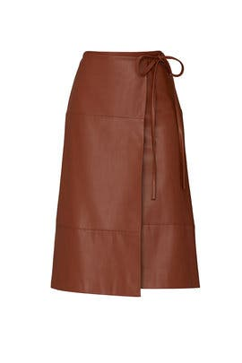 Faux Leather Tie Skirt by Jason Wu