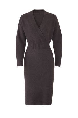 Faux Wrap Sweater Dress by Moon River
