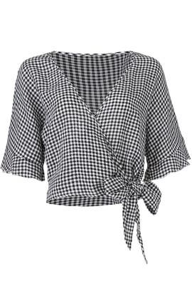 Gingham Athena Wrap Top by Rails
