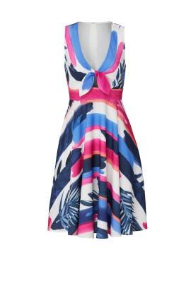 Leafy Stripe Print Dress by Slate & Willow