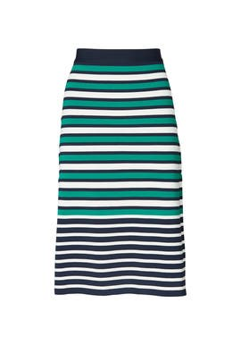 Breton Stripe Knit Skirt by Tory Sport