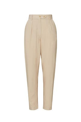 Beige Tailored Pants by Love, Whit by Whitney Port