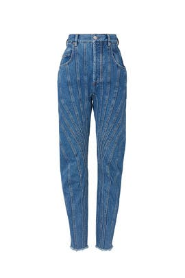 High Spiral Denim Jeans by MUGLER