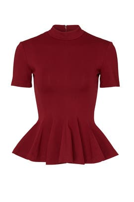 Burgundy Ponte Top by Tome
