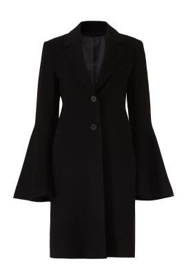 Black Bell Sleeve Coat by Derek Lam Collective