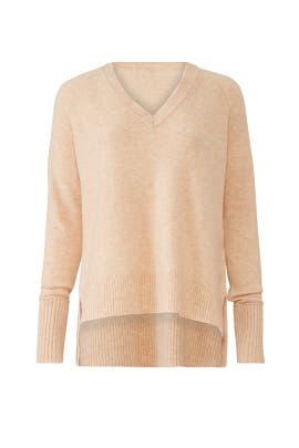 Camel V-Neck Sweater by J.Crew