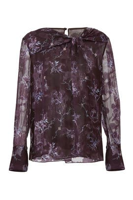 Winter Floral Knot Blouse by Jason Wu