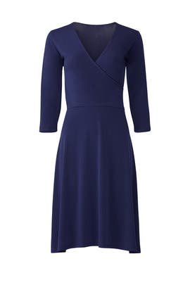 The Perfect Navy Wrap Dress by Leota