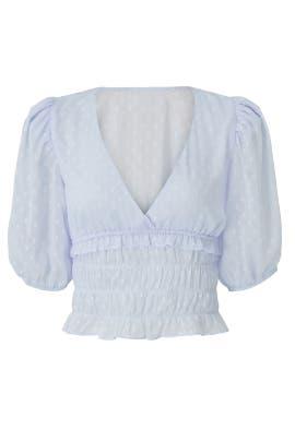 Sheer Puff Sleeve Blouse by Louna
