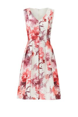 Rose Notes Dress by Carmen Marc Valvo
