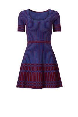 Red and Blue Knit Dress by Diane von Furstenberg